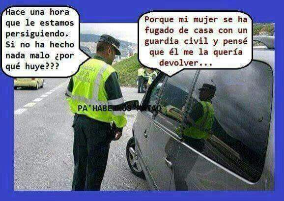 Perseguido por la Guardia Civil