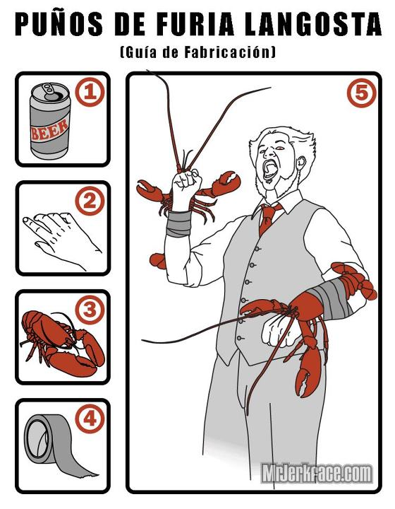Guía de fabricación - Puños de furia langosta