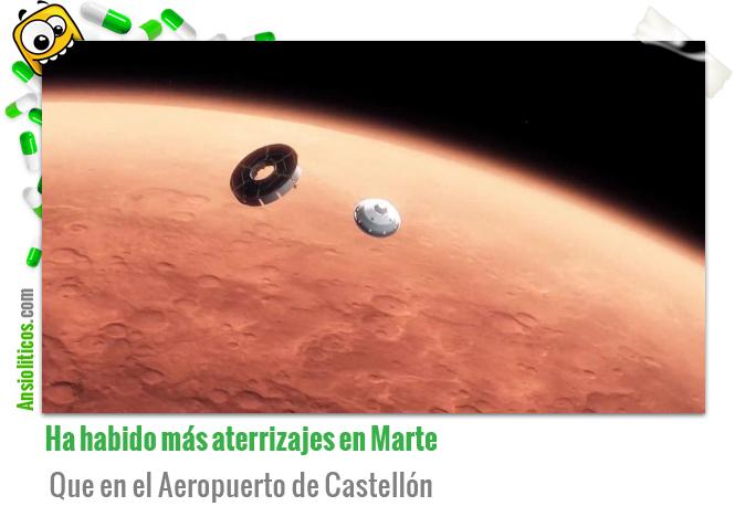 Ha habido más aterrizajes en Marte que en el aeropuerto de Castellón