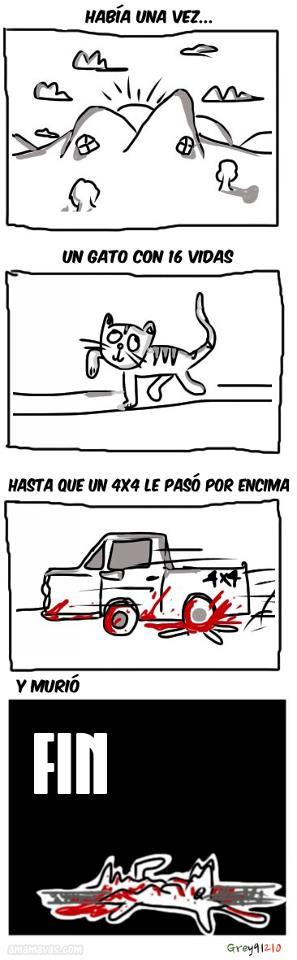El cuento del gato con 16 vidas