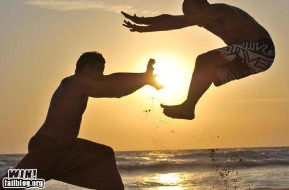 hadouken en la playa