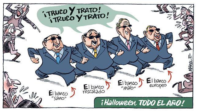 Banqueros en Halloween