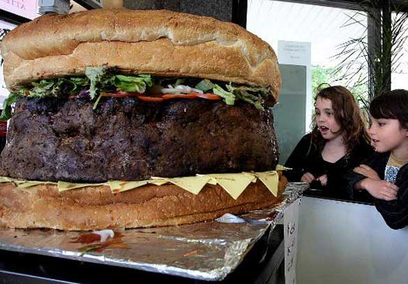 La hamburguesa más grande del mundo