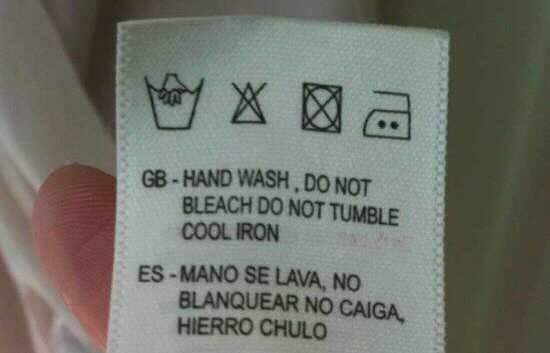 Instrucciones de lavado en español
