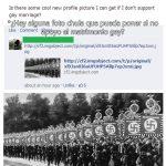 Sugerencia de foto si no apoyas el matrimonio gay