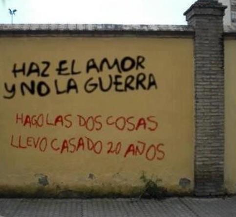 Haz el amor y no la guerra. Reacciones
