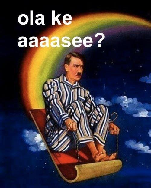 Hitler en alfombra voladora