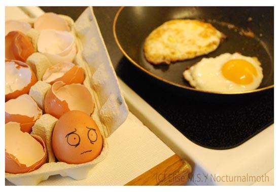 El huevo presiente su final