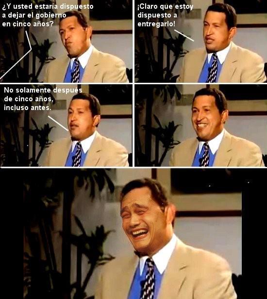 Pregunta a Hugo Chavez
