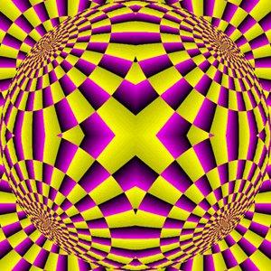 Ilusión óptica - Figuras moviéndose