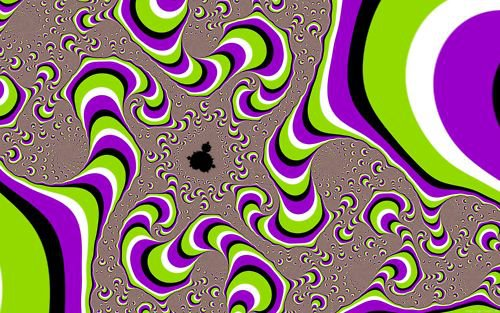 Ilusiones ópticas - figuras que se mueven