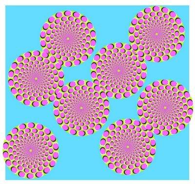 Ilusiones ópticas - Círculos que se mueven