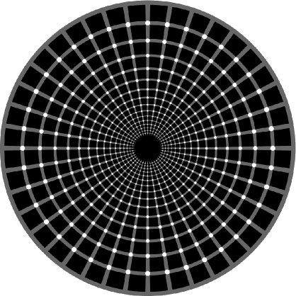 Ilusiones ópticas - cuenta los puntos negros