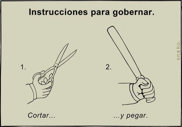 Instrucciones para gobernar