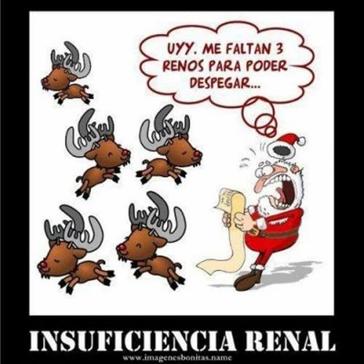 insuficiencia renal definicion grafica papa noel renos