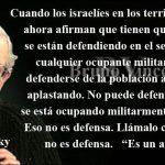 Noam Chomsky, acerca del conflicto entre Palestina e Israel