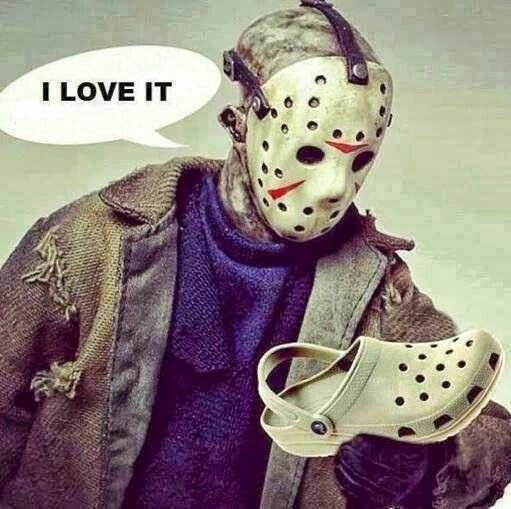 jason halloween zuecos i love it