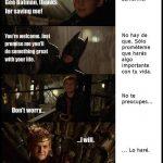 La promesa de Joffrey Baratheon a Batman