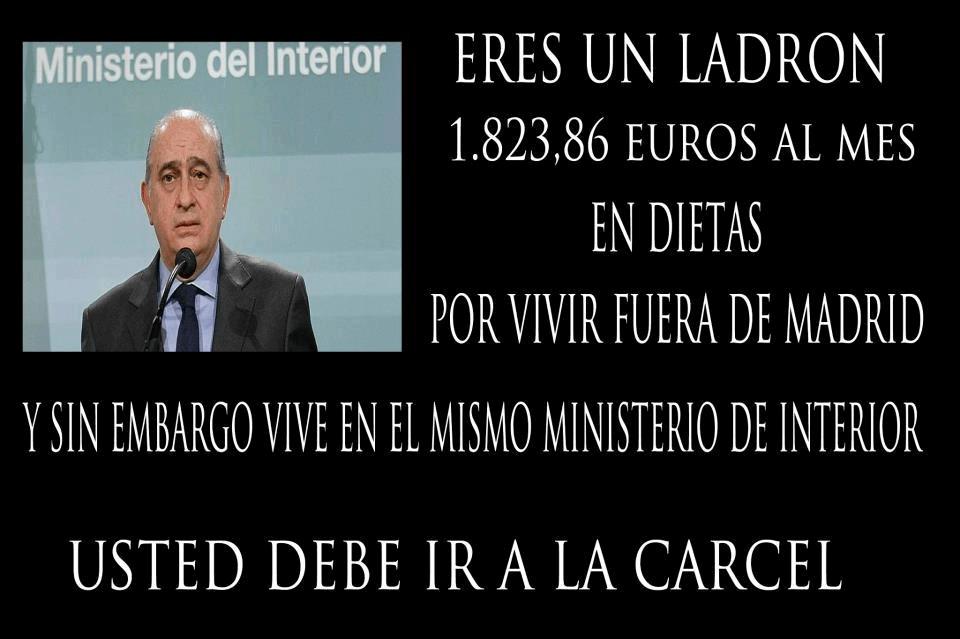 Jorge Fernández Díaz - Dietas por vivir fuera de Madrid