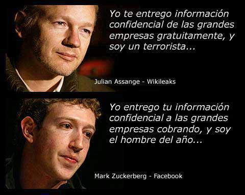 Julian Assagne y Mark Zuckerberg; terrorista y hombre del año