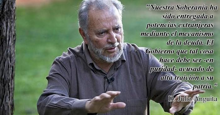 Julio Anguita: Nuestra soberanía ha sido entregada a potencias extranjeras