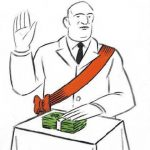 Juro con mi mano sobre el dinero…