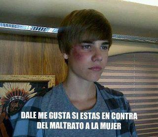 Justin Bieber maltratado