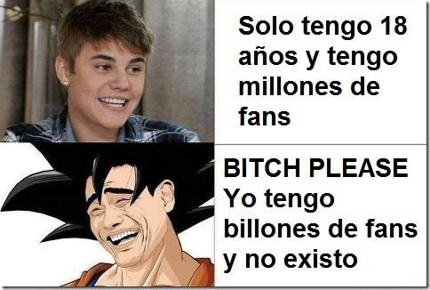 Justin Bieber vs Goku