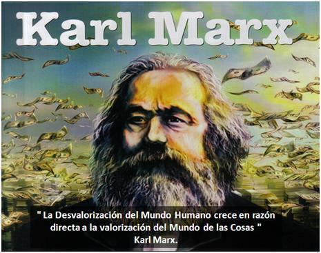 La desvalorización del mundo humano crece en razón directa a la valorización del mundo de las cosas (Karl Marx)