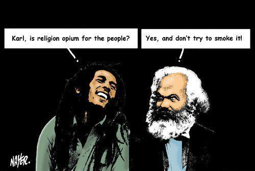 Conversación entre Karl Marx y Bob Marley