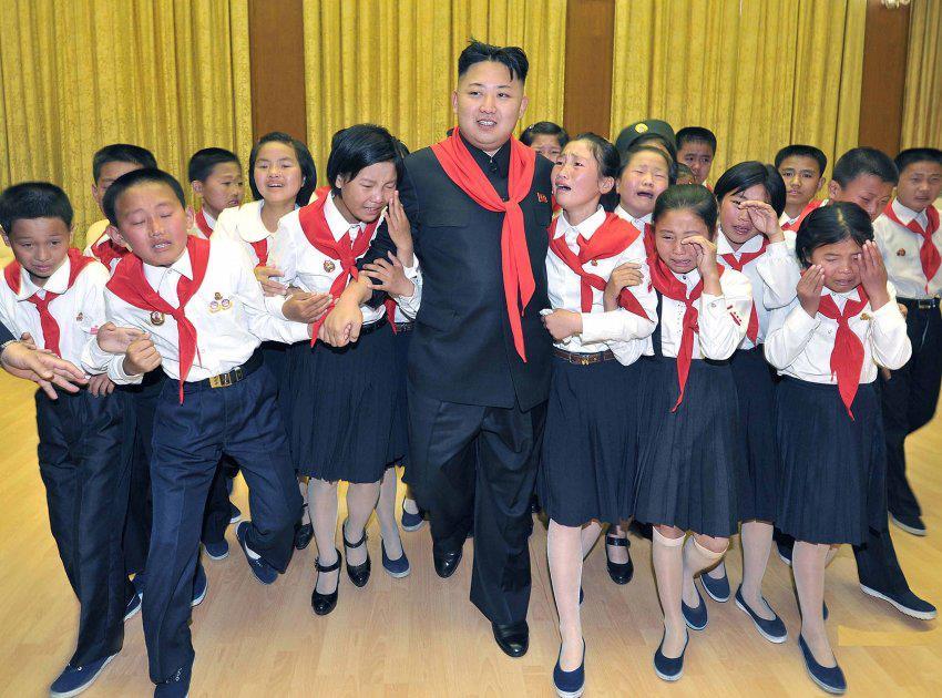 Kim Jong-un, el amigo de los niños