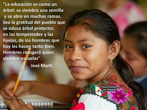 José Marti, sobre la educación
