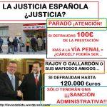 La justicia española: Parados vs diputados