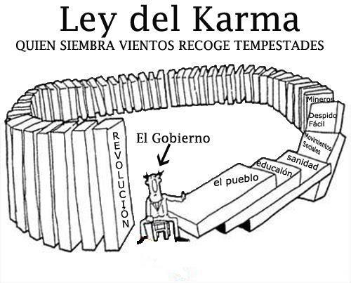 La ley del karma aplicada a la política