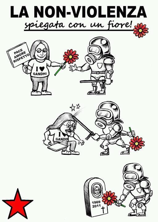 La no-violencia explicada con una flor