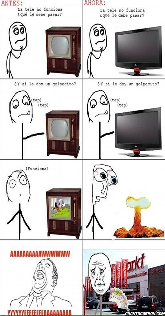 La tele no funciona (antes y ahora)