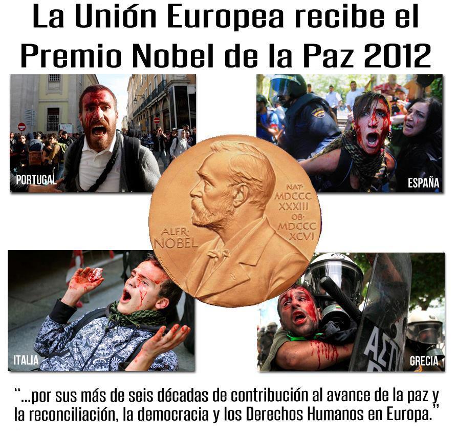 La Unión Europea recibe el premio Nobel de la paz 2012