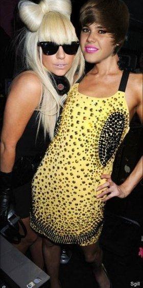 Lady Gaga con su mejor amiga