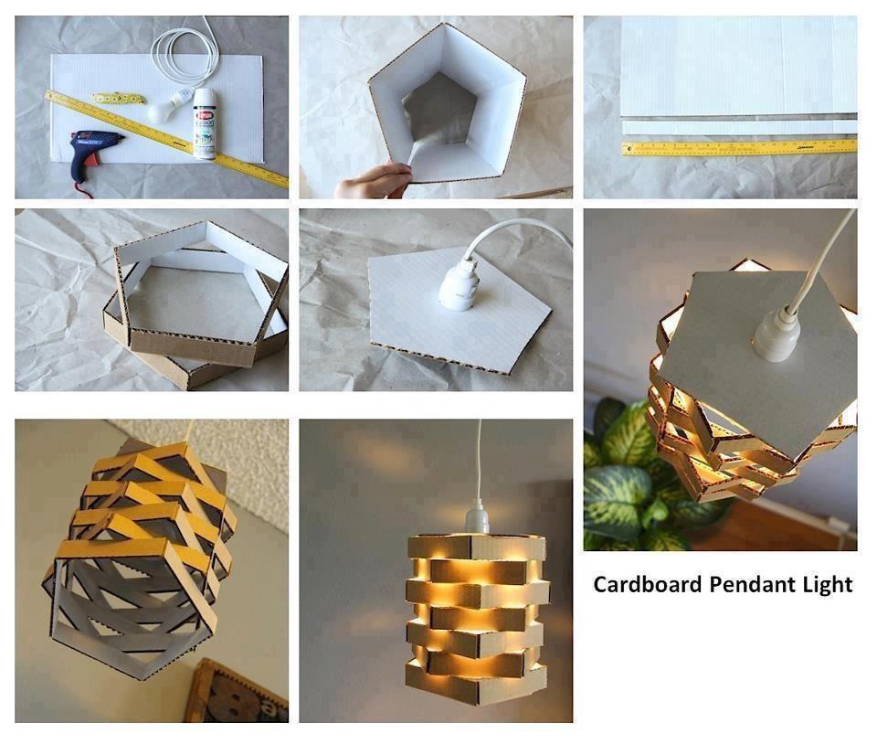 Lámpara original hecha con cartón