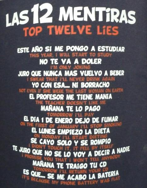 Las 12 mentiras más utilizadas