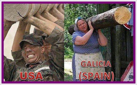 Levantando troncos - USA vs Galicia