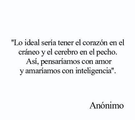 Pensar con amor y amar con inteligencia