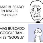 Lo más buscado en Bing y en Google