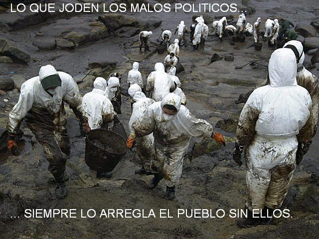 Lo que joden los malos políticos siempre lo arregla el pueblo sin ellos