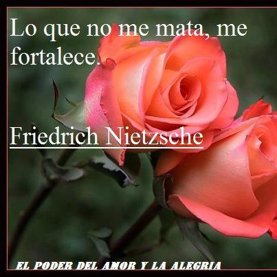 Lo que no me mata me fortalece (Friedrich Nietzsche)