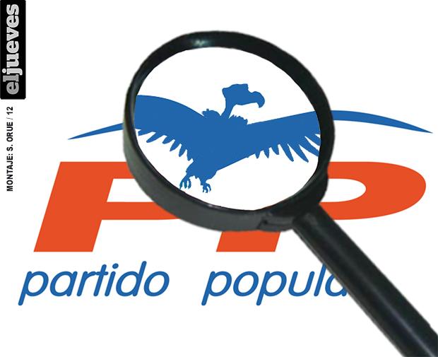 Logo del PP (con lupa)