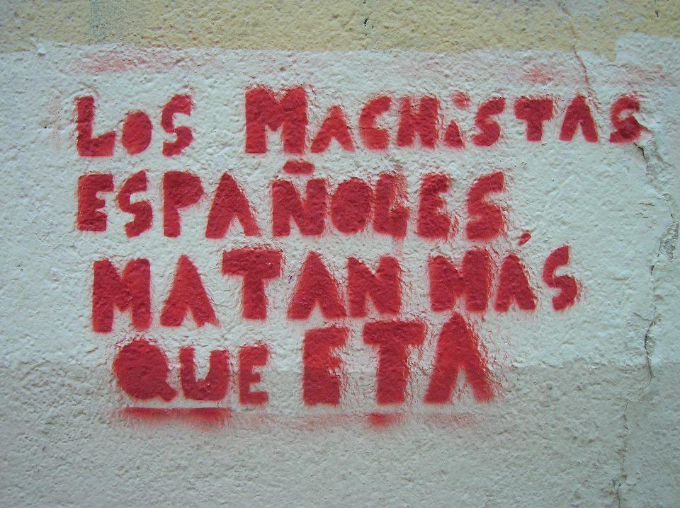 Los machistas españoles matan mas que ETA