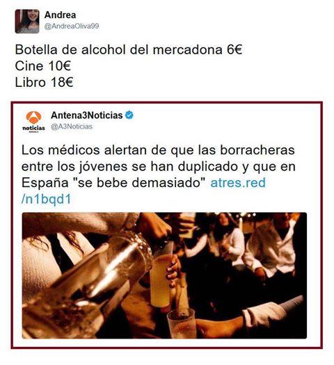 los medicos alertan de que las borracheras entre jovenes se han duplicado