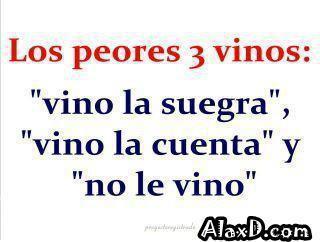Los peores 3 vinos
