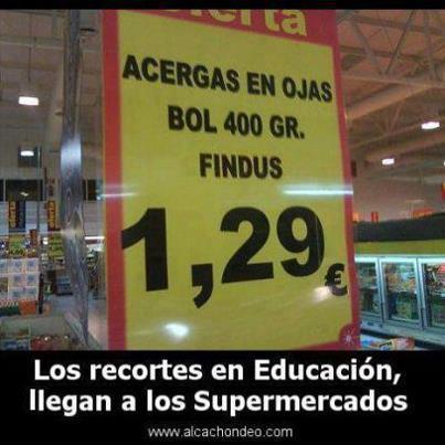 Los recortes en educación llegan a los supermercados
